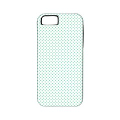 Tiffany Aqua Blue Candy Polkadot Hearts On White Apple Iphone 5 Classic Hardshell Case (pc+silicone) by PodArtist