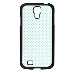 Tiffany Aqua Blue Candy Polkadot Hearts On White Samsung Galaxy S4 I9500/ I9505 Case (black) by PodArtist