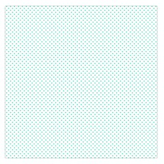 Tiffany Aqua Blue Candy Polkadot Hearts On White Large Satin Scarf (square) by PodArtist