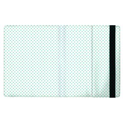 Tiffany Aqua Blue Candy Polkadot Hearts On White Apple Ipad Pro 9 7   Flip Case by PodArtist