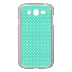 White Polkadot Hearts On Tiffany Aqua Blue  Samsung Galaxy Grand Duos I9082 Case (white) by PodArtist