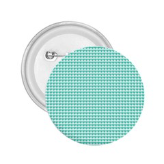 Tiffany Aqua Blue Candy Hearts On White 2 25  Buttons by PodArtist