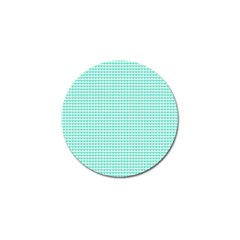 Tiffany Aqua Blue Candy Hearts On White Golf Ball Marker (10 Pack) by PodArtist