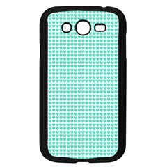 Tiffany Aqua Blue Candy Hearts On White Samsung Galaxy Grand Duos I9082 Case (black) by PodArtist