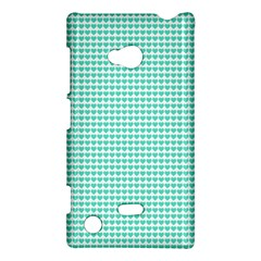 Tiffany Aqua Blue Candy Hearts On White Nokia Lumia 720 by PodArtist