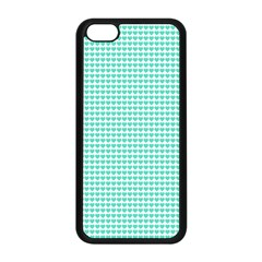 Tiffany Aqua Blue Candy Hearts On White Apple Iphone 5c Seamless Case (black) by PodArtist