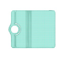 Tiffany Aqua Blue Candy Hearts On White Kindle Fire Hdx 8 9  Flip 360 Case by PodArtist