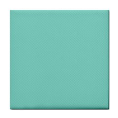 Tiffany Aqua Blue Puffy Quilted Pattern Tile Coasters by PodArtist