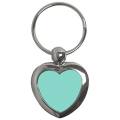 Tiffany Aqua Blue Puffy Quilted Pattern Key Chains (heart)  by PodArtist