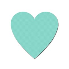 Tiffany Aqua Blue Puffy Quilted Pattern Heart Magnet by PodArtist