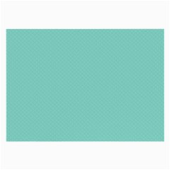 Tiffany Aqua Blue Puffy Quilted Pattern Large Glasses Cloth (2 Side) by PodArtist