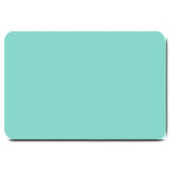 Tiffany Aqua Blue Puffy Quilted Pattern Large Doormat  by PodArtist