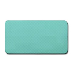 Tiffany Aqua Blue Puffy Quilted Pattern Medium Bar Mats by PodArtist
