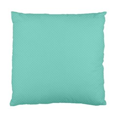 Tiffany Aqua Blue Puffy Quilted Pattern Standard Cushion Case (two Sides) by PodArtist