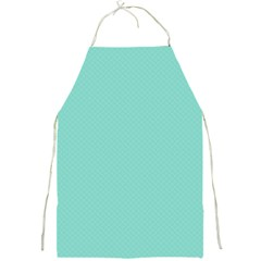 Tiffany Aqua Blue Puffy Quilted Pattern Full Print Aprons by PodArtist