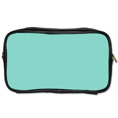 Tiffany Aqua Blue Puffy Quilted Pattern Toiletries Bags by PodArtist