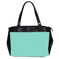 Tiffany Aqua Blue Puffy Quilted Pattern Office Handbags (2 Sides)  by PodArtist
