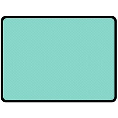 Tiffany Aqua Blue Puffy Quilted Pattern Fleece Blanket (large)  by PodArtist