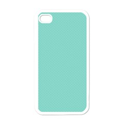 Tiffany Aqua Blue Puffy Quilted Pattern Apple Iphone 4 Case (white) by PodArtist