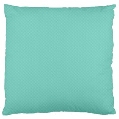 Tiffany Aqua Blue Puffy Quilted Pattern Large Cushion Case (one Side) by PodArtist