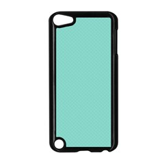 Tiffany Aqua Blue Puffy Quilted Pattern Apple Ipod Touch 5 Case (black) by PodArtist