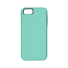Tiffany Aqua Blue Puffy Quilted Pattern Apple Iphone 5 Classic Hardshell Case (pc+silicone) by PodArtist