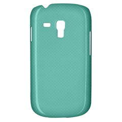 Tiffany Aqua Blue Puffy Quilted Pattern Galaxy S3 Mini by PodArtist