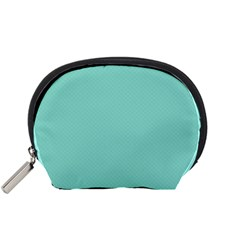 Tiffany Aqua Blue Puffy Quilted Pattern Accessory Pouches (small)  by PodArtist