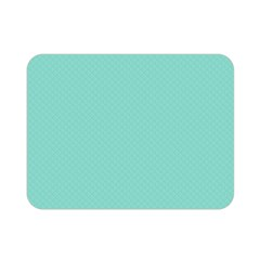 Tiffany Aqua Blue Puffy Quilted Pattern Double Sided Flano Blanket (mini)  by PodArtist