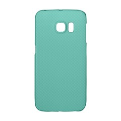 Tiffany Aqua Blue Puffy Quilted Pattern Galaxy S6 Edge by PodArtist