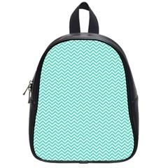 Tiffany Aqua Blue Chevron Zig Zag School Bag (small) by PodArtist