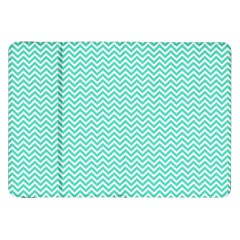 Tiffany Aqua Blue Chevron Zig Zag Samsung Galaxy Tab 8 9  P7300 Flip Case by PodArtist