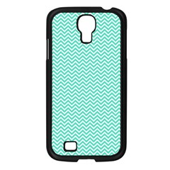 Tiffany Aqua Blue Chevron Zig Zag Samsung Galaxy S4 I9500/ I9505 Case (black) by PodArtist