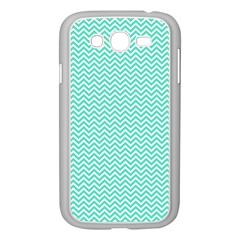 Tiffany Aqua Blue Chevron Zig Zag Samsung Galaxy Grand Duos I9082 Case (white) by PodArtist