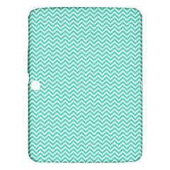 Tiffany Aqua Blue Chevron Zig Zag Samsung Galaxy Tab 3 (10 1 ) P5200 Hardshell Case  by PodArtist