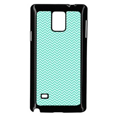 Tiffany Aqua Blue Chevron Zig Zag Samsung Galaxy Note 4 Case (black) by PodArtist