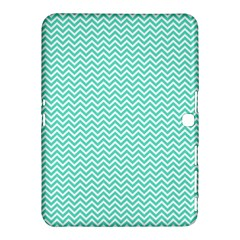 Tiffany Aqua Blue Chevron Zig Zag Samsung Galaxy Tab 4 (10 1 ) Hardshell Case  by PodArtist