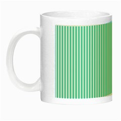 Classy Tiffany Aqua Blue Sailor Stripes Night Luminous Mugs by PodArtist