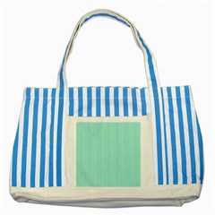 Classy Tiffany Aqua Blue Sailor Stripes Striped Blue Tote Bag by PodArtist