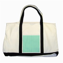 Classy Tiffany Aqua Blue Sailor Stripes Two Tone Tote Bag by PodArtist