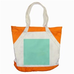 Classy Tiffany Aqua Blue Sailor Stripes Accent Tote Bag by PodArtist