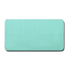 Classy Tiffany Aqua Blue Sailor Stripes Medium Bar Mats by PodArtist