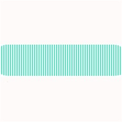 Classy Tiffany Aqua Blue Sailor Stripes Large Bar Mats by PodArtist