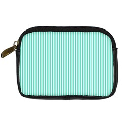 Classy Tiffany Aqua Blue Sailor Stripes Digital Camera Cases by PodArtist