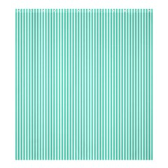Classy Tiffany Aqua Blue Sailor Stripes Shower Curtain 66  X 72  (large)  by PodArtist