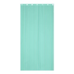 Classy Tiffany Aqua Blue Sailor Stripes Shower Curtain 36  X 72  (stall)  by PodArtist