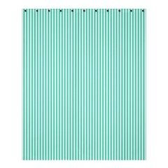 Classy Tiffany Aqua Blue Sailor Stripes Shower Curtain 60  X 72  (medium)  by PodArtist