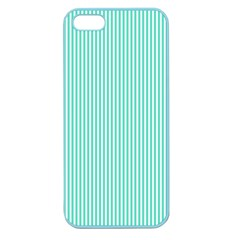 Classy Tiffany Aqua Blue Sailor Stripes Apple Seamless Iphone 5 Case (color) by PodArtist