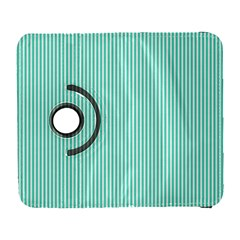 Classy Tiffany Aqua Blue Sailor Stripes Galaxy S3 (flip/folio) by PodArtist