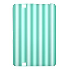 Classy Tiffany Aqua Blue Sailor Stripes Kindle Fire Hd 8 9  by PodArtist